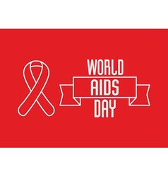 1st december world aids day concept with red vector