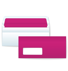 Opened and closed blank envelopes vector