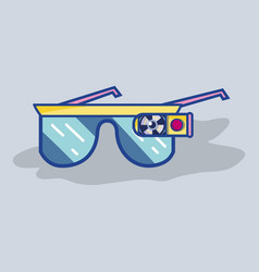 3d glasses virtual game experience vector