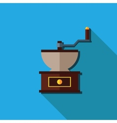 Flat coffee grinder isolated vector