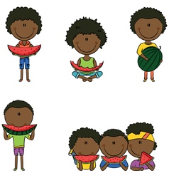 African-american boys vector
