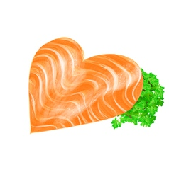 Salmon heart vector