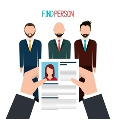 Find person to get a job vector