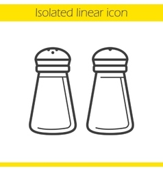 Salt and pepper shakers icon vector image