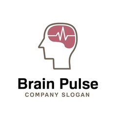 Brain Pulse Design vector image vector image