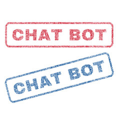 Chat bot textile stamps vector