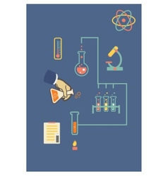 Chemistry infographic infographics template for vector image vector image