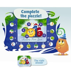 complete the pazzle vector image vector image