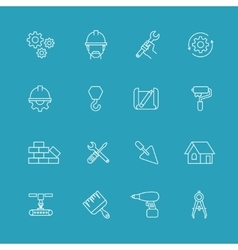 Construction and engineering icons Designing vector image vector image