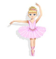 Cute ballerina vector