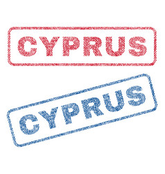 Cyprus textile stamps vector