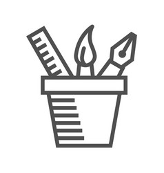 Design tools line icon vector