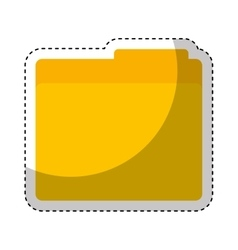 folder document isolated icon vector image vector image