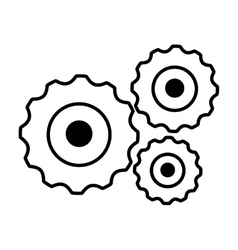 Gears machinery isolated icon vector