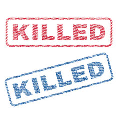 Killed textile stamps vector