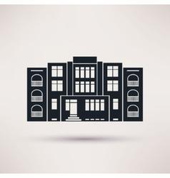 Kindergarten icon in the flat style vector