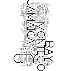 Montego bay jamaica text background word cloud vector