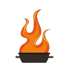 oven grill bbq icon vector image vector image