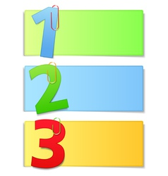 Paper cards with numbers vector image vector image