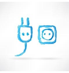 Plug and socket icon vector