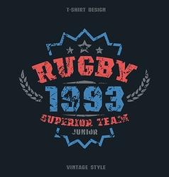 Rugby team emblem vector
