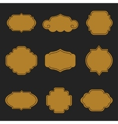 Set of labels on black background vector image vector image