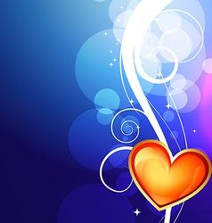 Shiny valentine day background vector