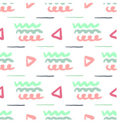 Simple seamless abstract pattern freehand texture vector