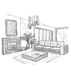 Sketch of an interior vector image vector image