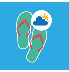 Summer vacation design beach sandals vector