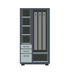 Wardrobe with shelves vector