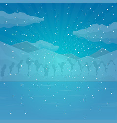 winter and christmas background snow vector image