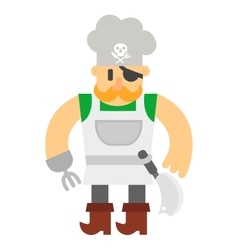 Cartoon pirate character vector