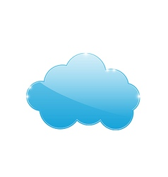 Blue cloud isolated on white background vector