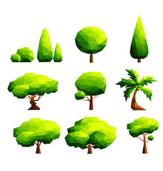 Set of polygonal trees and bushes vector