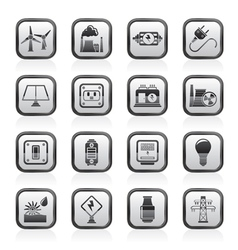 Power and energy icons vector