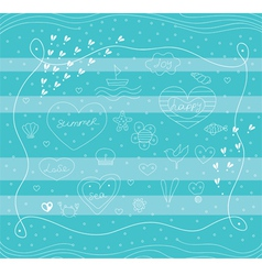 Sea picture vector