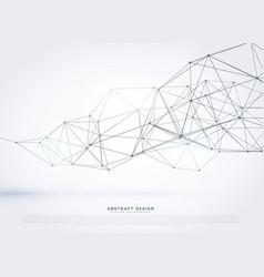 Wireframe polygonal mesh background design vector