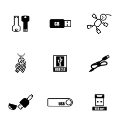 Usb icon set vector