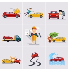 Car and transportation insurance vector