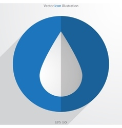 Drop web flat icon vector