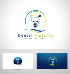 Dental implants logo vector
