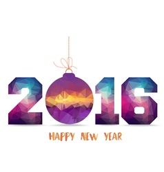 Happy new year 2016 geometrical card with vector