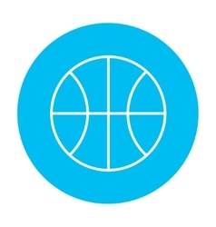 Basketball ball line icon vector