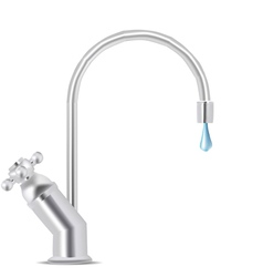 water tap dripping vector image