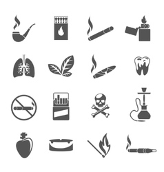 Smoking and tobacco icons vector