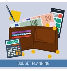 Budget planning concept vector