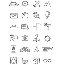 Travel journey icons vector image