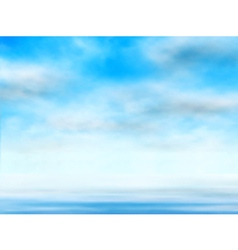Sky over water vector