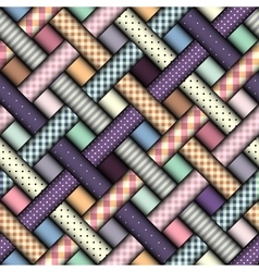Abstract diagonal plaid background vector